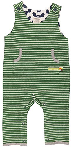 loud + proud Unisex Baby Strampler Ringel Grün (Pine/Natural Pin/Na), 80 (Herstellergröße: (Grüner Strampler)