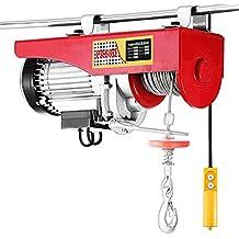 Tecmaqui Polipasto Eléctrico 1320LBS 600KG Elevador eléctrico 220V 12M Montacargas Eléctrico para Garage y Levantar Herramientos