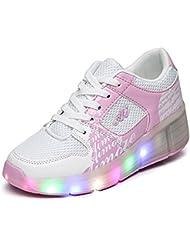 Chaussure à Roulette Qui S'allume Led Lumineuses Roller Baskets Sport Lumière Adulte Garçon Fille