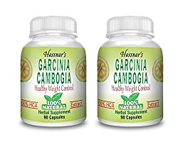 Hassnars Garcinia Cambogia 60% HCA Extract Capsule - 90 Capsules Bottle Pack of 2