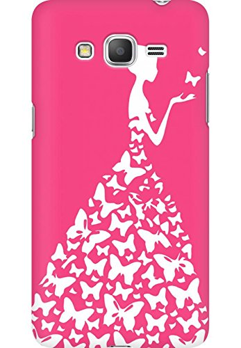 AMEZ designer printed 3d premium high quality back case cover for Samsung Galaxy Grand Prime (pink white girl princess)  available at amazon for Rs.199