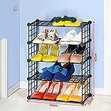 YUN-X Einfache Kombination voller Eisennetz-Aufbewahrungsschuhschrank, kreative Gestellmöbelwand der Mode, schmiedeeiserner Schuhschrank (größe : 85cm)