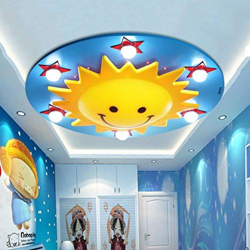 Plafonniers ZHAOJING Creative Sun Smiley LED Lampe De Plafond Enfants Chambre Lampe Chambre Éclairage Salon Lampe E27 * 6