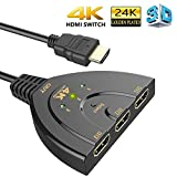 SEC HDMI Switch with 3 Port Input, 1 Output 3x1 Splitter with Pigtail