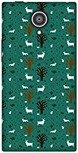The Racoon Lean TREES AND DEER hard plastic printed back case / cover for Gionee Elite E7