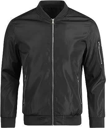 Mens Baseball Bomber Jacket Casual Cargo Windbreaker Jackets Thin Summer Evening Outwear Top