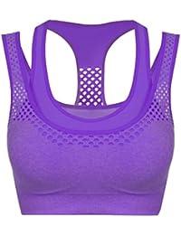 Zearo - Sujetador del Deporte de Extensibles Chaleco Running Mujer para Hacer Atlético Gym Yoga Running
