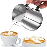 Pot à Lait, Innislink Pot à Lait inox en Acier Inoxydable pour le Café la Mousse de Lait - 350ml