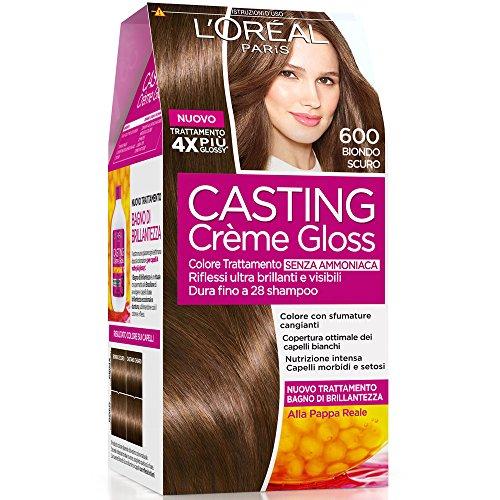 L'Oréal Paris Casting Crème Gloss Colore Trattamento senza Ammoniaca, 600 Biondo Scuro