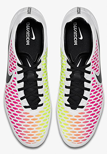 Nike 651329-807, Scarpe da calcio Uomo Bianco (White/Black-Pink Blast-Volt)