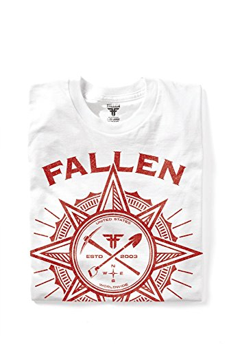 Fallen Herren T-Shirt RAMBLER White/Red