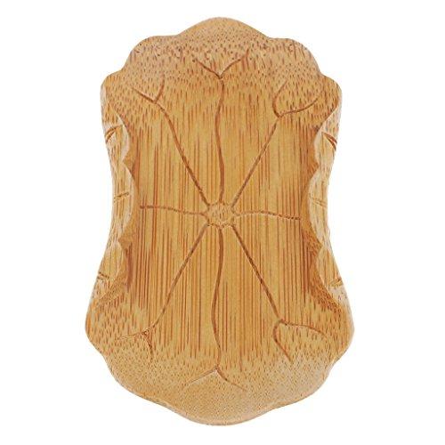 D DOLITY Bambou Dessous de Tasse à Thé Design Feuille Lotus pour Tasses à Thé Verre Café - Bois