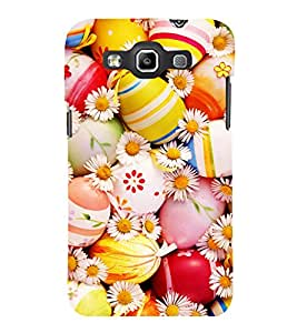 printtech Easter Eggs Flowers Colored Back Case Cover for Samsung Galaxy Quattro i8552::Samsung Galaxy Quattro Win i8552