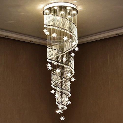 Modern deckenlampe led doppel treppenhaus kronleuchter for Deckenlampe lang