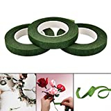 Efanty 3 Rouleaux Rubans Floraux Adhésifs Fleuriste Ruban Floral Bande D'outils de Décoration Florale pour Corsages, Bouton Trous, Fleur agencement et artisanat du sucre