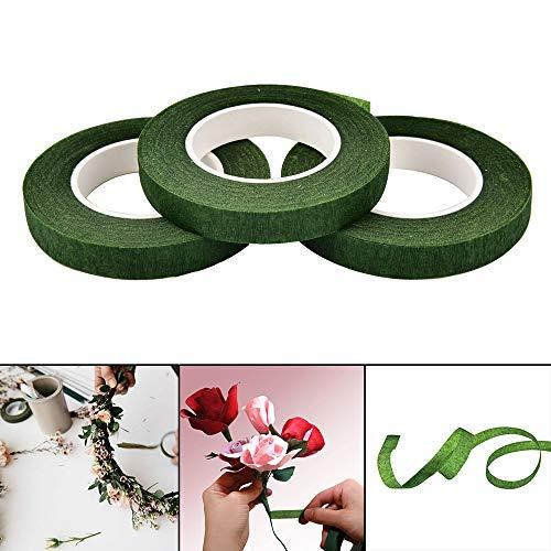 Efanty 3 Rollen Blumenklebeband Floristenband Blumenband Papier Klebeband Selbstklebend für Bouquet Stem Wrap Floral Arrangieren Craft Projekte Corsagen