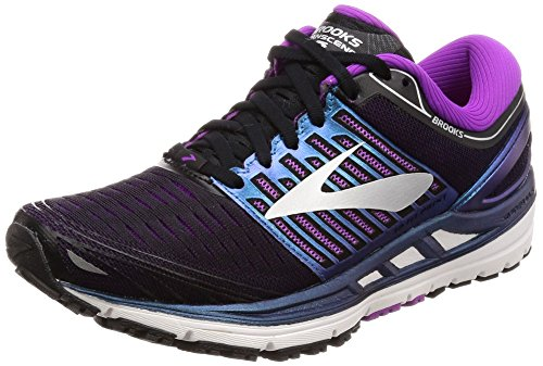 Brooks Transcend 5, Chaussures de Running Femme, Multicolore (Blackpurplemulti 1b023), 40 EU