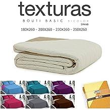 TEXTURAS HOME - Colcha de Verano POP BICOLOR Reversible 4 tamaños disponibles ( Diferentes colores elegibles ) (Cama_150, Fresa-Gris)