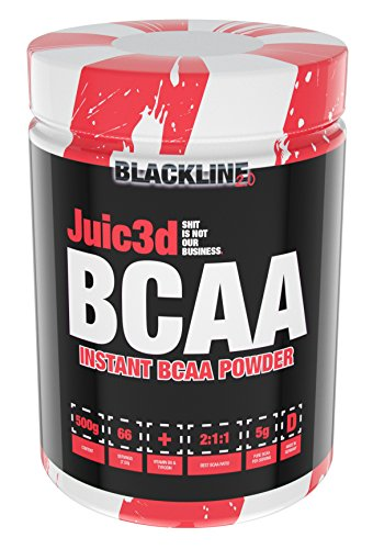 BlackLine 2.0 Juic3d Bcaa Aminosäure Aminos Vitamin B6 Tyrosin Ratio Muskelaufbau Abnehmen Diät Bodybuilding 500g Cola
