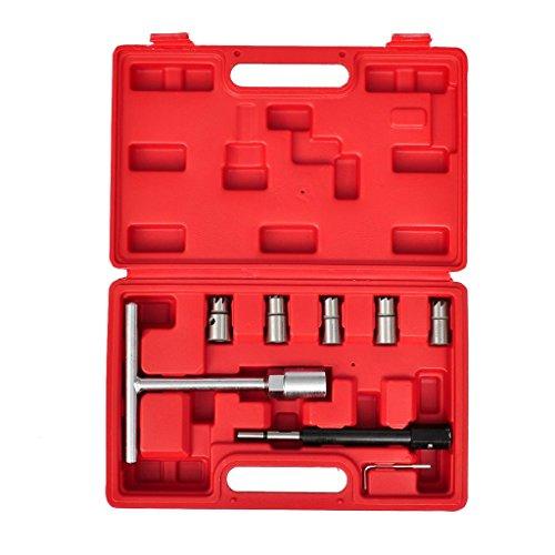 SENLUOWX Injektoren Dichtsitzfräser Set 7-teilig Plane Fräsfläche #1: 15mm x 19mm - für diverse Modelle