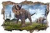 Triceratops Dinosaurier Dino Urzeit Wandtattoo Wandsticker Wandaufkleber D0572 Größe 120 cm x 180 cm