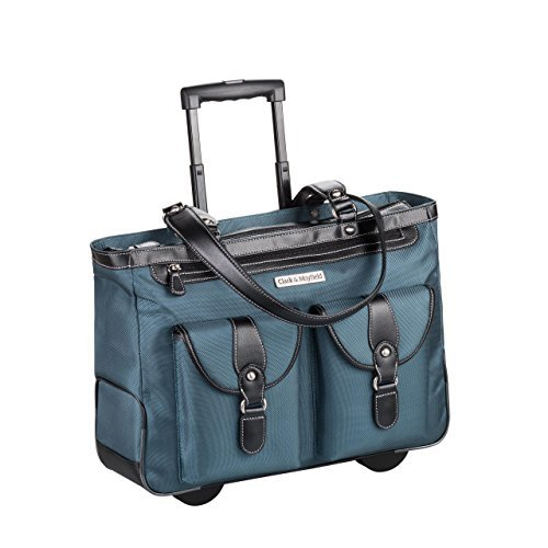 Clark & Mayfield Marquam Rolling Laptop Tote 18,4