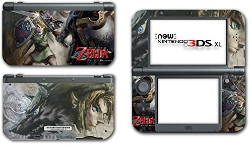 Legend of Zelda Link Twilight Princess Wolf Video Game Vinyl Decal Skin Sticker Cover for the New Nintendo 3DS XL LL 2015 System Console by Vinyl Skin Designs (3ds Princess Nintendo)