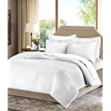 Cotton Double Bedsheet (100% Cotton Plain White Double Bed Sheet With 2 Pillow Cover,size -230x250 Cms, Pillow - 70x45 Cms)