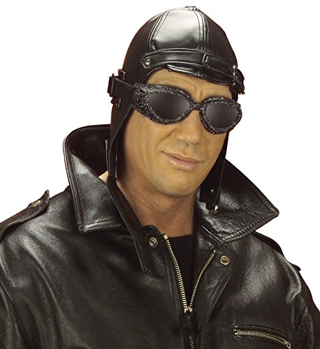 Imagen de aviador leatherlook 20s 30s gangster sombreros gorras y sombreros para disfraces accesorios