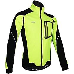 Docooler Hombres de Bicicleta Ropa Bicicletas Manga Larga Ropa Cazadora de Bicicletas Impermeable Respirable Secado Rápido