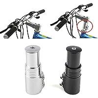 Moppi Bicicleta tenedor vástago extensor bicicleta manillar elevador adaptador de cabeza para arriba