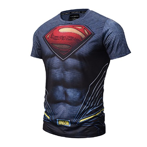 Samanthajane clothing - maglietta - da uomo, multicolore man of steel l