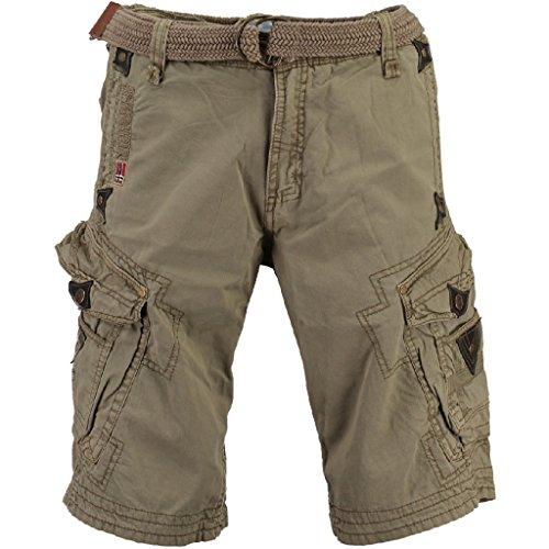 geographical-norway-uomo-cargo-pantaloncini-con-perle-cintura-mastice-l