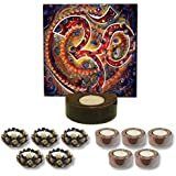 TYYC Home Decorative Candle Holders Diwali Gift Items Colorful Om Tea Light Holder Gift Pack Combo Of 11 T-light Holders