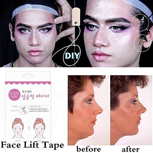 Face Lifting Patch Invisible Artefakt-Aufkleber Lifting Kinn, dünne Gesichtsaufkleber, Klebeband, Make-up, Gesichtshebwerkzeuge, 80 Stück/Box