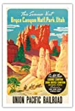 Besuch In Diesem Sommer Bryce Nat'l. Park Utah - Alle Drei: Grand Canyon, Zion, Bryce Nationalparks - Union Pacific Railroad - Alte Welt Reise Plakat Poster c.1935 - Kunstdruck - 76cm x 112cm