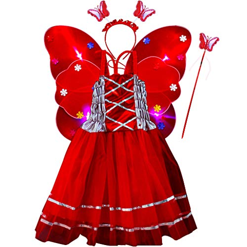 Engel Tutu Zubehör Kit - Yajiun Feenflügel für Kinder, Kostüm, Kinder,