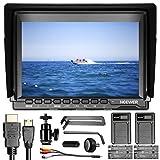 Neewer NW74K 7' Ultra HD 4K 1280x800 IPS Pantalla Cámara Monitor Campo con 2 Paquetes F550 Batería Repuesto y 2 Piezas USB Cargador Batería para Sony Canon Nikon Olympus Pentax