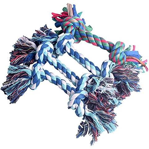 4 Piezas de algodón perro de mascar cuerda Juguetes CW-MYYS01 (color al azar) (S)