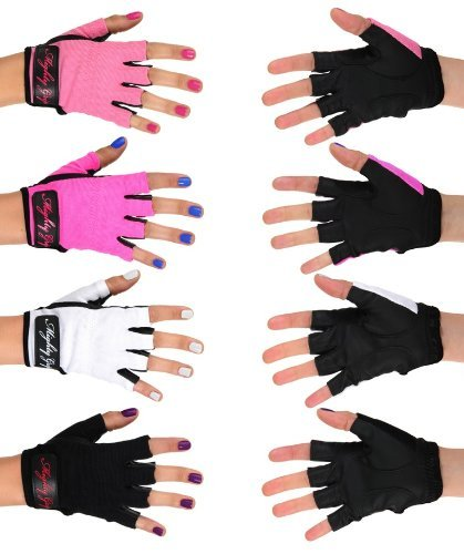 Mighty Grip Non-Tacky Pole Dancing Handschuhe (1 Paar), Schwarz, Large