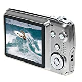 Ularma Amkov CDOE3 2,7-Zoll Kamera 3 X optischer Zoom 15MP HD Anti-Shake Video Digitalkamera 1# weiß