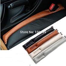 Achievess (TM) Nueva Práctica, color gris/blanco/negro/marrón Asiento de coche Gap, cubierta de asiento de accesorios para interior de coche leakproof Funda protectora costura