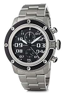 Glam Rock - GR33100 - Sobe Tech - Montre Homme - Quartz Chronographe - Cadran Noir - Bracelet Acier Gris