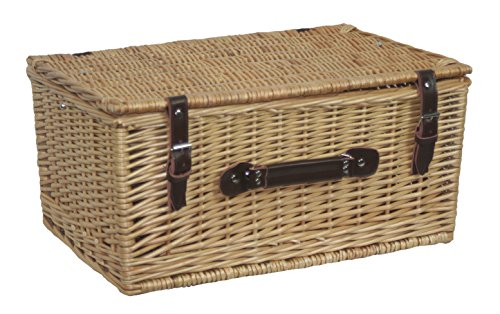 Red Hamper Buff 30cm Picnic Basket