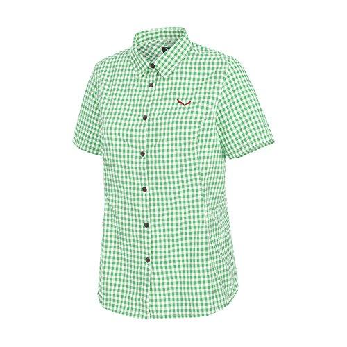 SALEWA FANES JAQUARD DRY W S/S SRT - kurze Ärmel Shirt - Damen White/Assenzio
