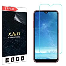 J&D Compatible for Samsung Galaxy A01 Screen Protector, 3-Pack [Not Full Coverage] HD Clear Protective Film Shield Screen Protector for Galaxy A01 Crystal Clear Film