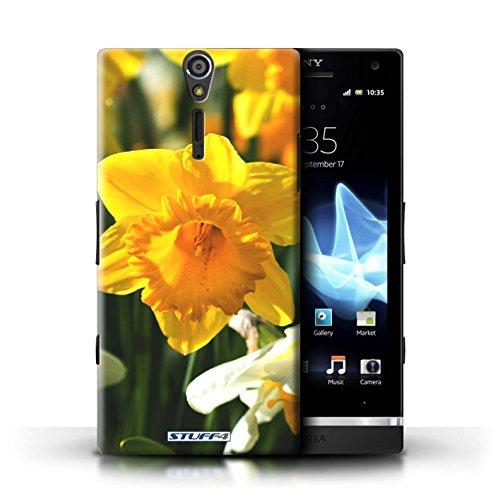 Kobalt® Imprimé Etui / Coque pour Sony Xperia S/LT26i / Clair Rose conception / Série floral Fleurs jonquille