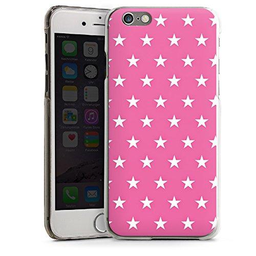 Apple iPhone 5s Housse Étui Protection Coque Polka étoiles Rose vif Motif CasDur transparent