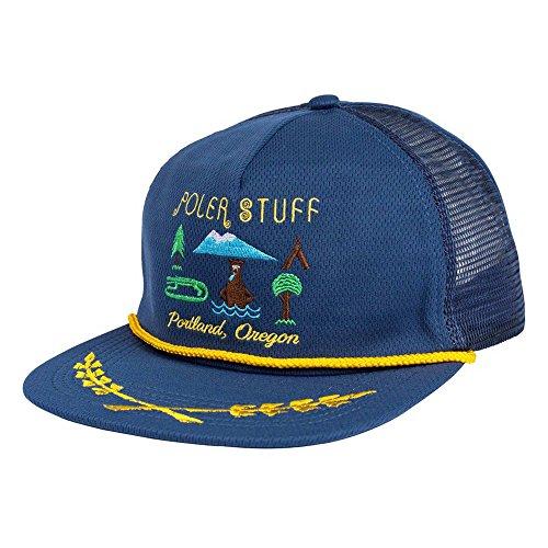 Männer Patagonia-trucker-hüte Für (POLER Cap Tourist Trap Mesh Trucker Kappe, Petrol Blue, One Size)