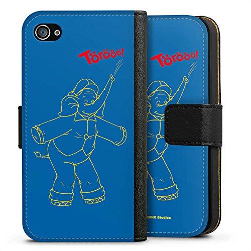 Apple iPhone X Silikon Hülle Case Schutzhülle Benjamin Blümchen Fanartikel Merchandise TÖRÖÖÖ! Sideflip Tasche schwarz